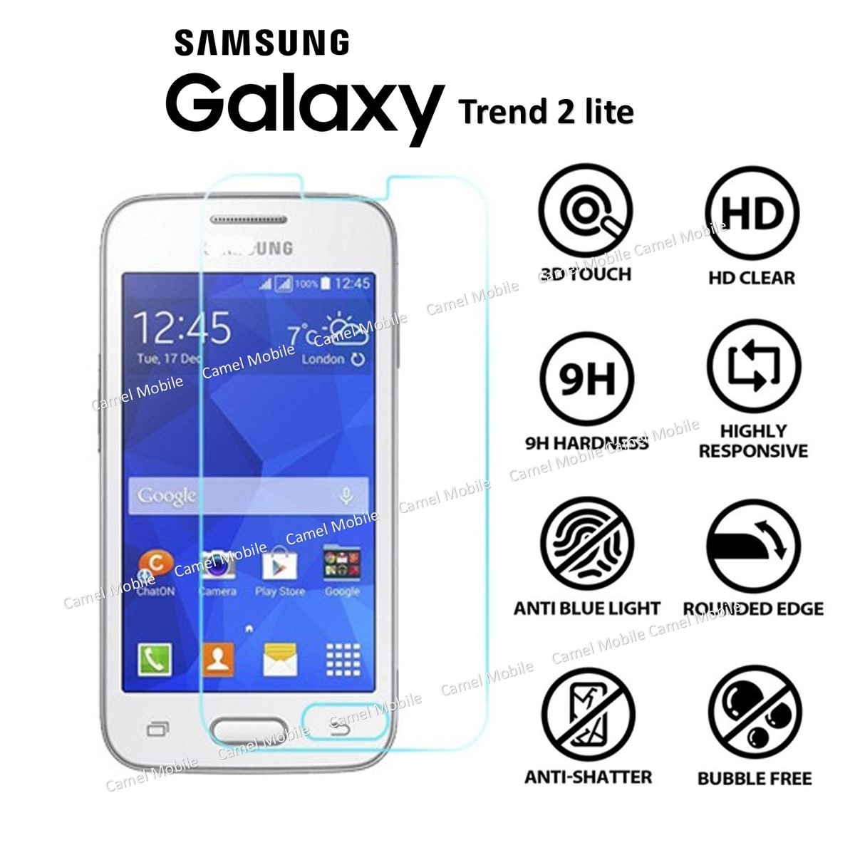 Samsung galaxy trend 2 lite 100 tempered glass screen - Protection galaxy trend lite ...