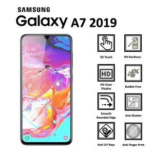 Samsung Galaxy A7 2019 100% Genuine 9H Tempered Glass Screen Protector-clear