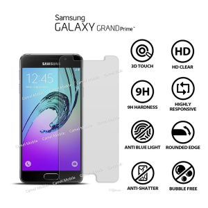 Samsung Galaxy Grand Prime 100% Tempered Glass Screen Protector-clear