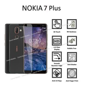 NOKIA 7 Plus 100% Tempered Glass Screen Protector-Clear