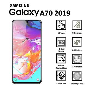 Samsung Galaxy A70 2019 100% Genuine 9H Tempered Glass Screen Protector-clear