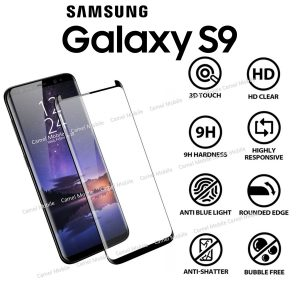 Samsung Galaxy S9 3D 100% Tempered Glass Screen Protector-Black