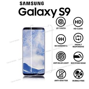 Samsung Galaxy S9 Full 3D 100% Genuine Tempered Glass Screen Protector-Clear