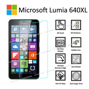 Microsoft Lumia 640 XL 100% Genuine Tempered Glass Screen Protector - Clear