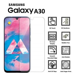 Samsung Galaxy A30 100% Genuine 9H Tempered Glass Screen Protector-clear