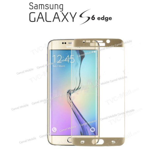 Samsung Galaxy S6 edge plus Full Cover 100% Genuine 3D Tempered Glass Screen Protector Golden