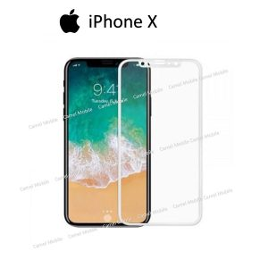 Apple iphone X Full covered & Glued 100% Genuine 3D Tempered Glass Screen Protector- Black