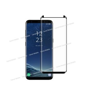 Samsung Galaxy S8 Plus Full Glued 100% Tempered Glass Screen Protector-Black