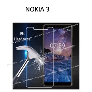 Nokia 3 100% Genuine Tempered Glass Screen Protector-Clear