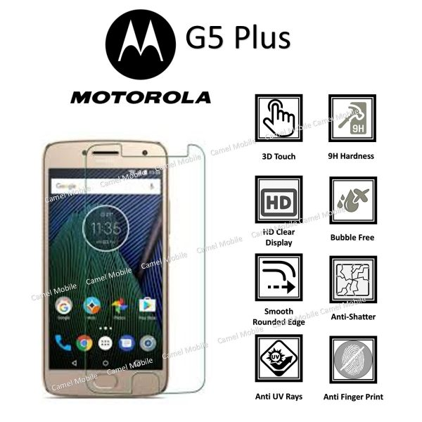 Motorola G5 Plus 100% Genuine Tempered Glass Screen Protector-Clear
