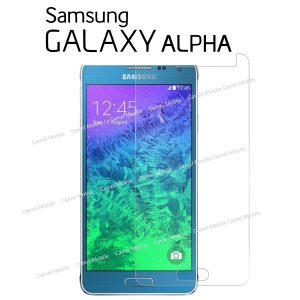 Samsung Galaxy Alpha 100% Tempered Glass Screen Protector-clear