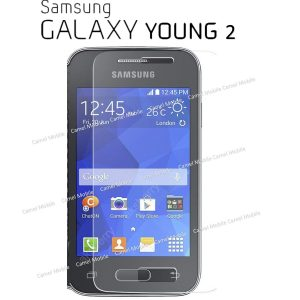 Samsung Galaxy Young-2 100% Tempered Glass Screen Protector-clear