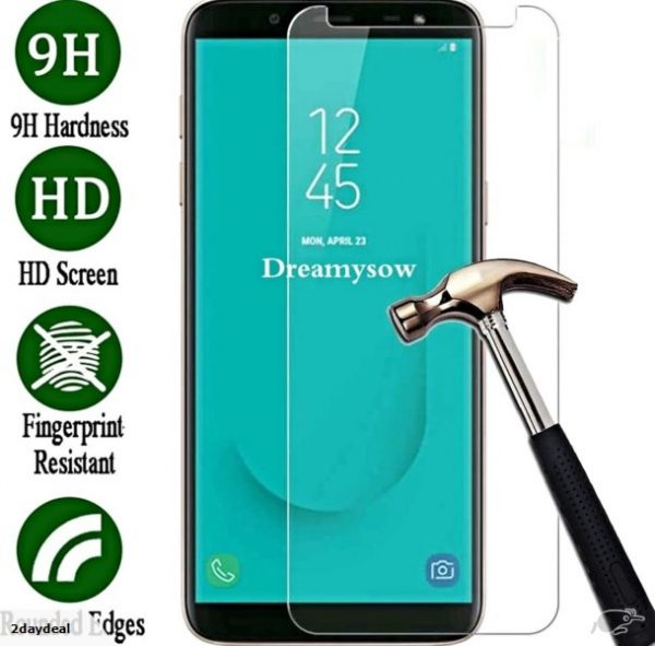Samsung Galaxy J8 (2018) 100% Genuine Tempered Glass Screen Protector-clear