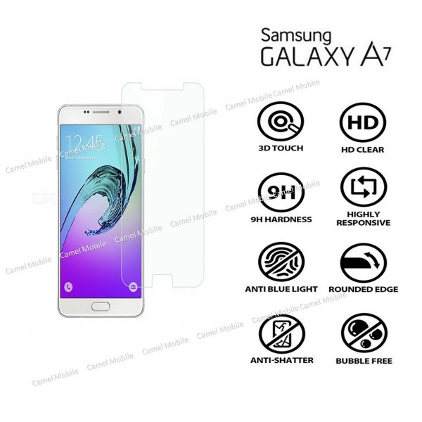 Samsung Galaxy A7 (2016) 100% Genuine Tempered Glass Screen Protector-clear