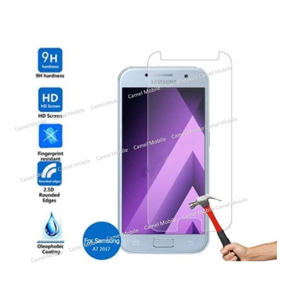 Samsung Galaxy A7 (2017) 100% Genuine Tempered Glass Screen Protector-clear