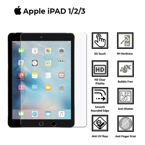 Apple ipad Air 1/2/3 100% Genuine Tempered Glass Screen Protector-Clear