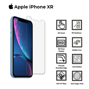 Apple iphone XR 100% Genuine Tempered Glass Screen Protector- Clear