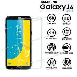 Samsung Galaxy J6 2018 Tempered Glass Screen Protector-clear