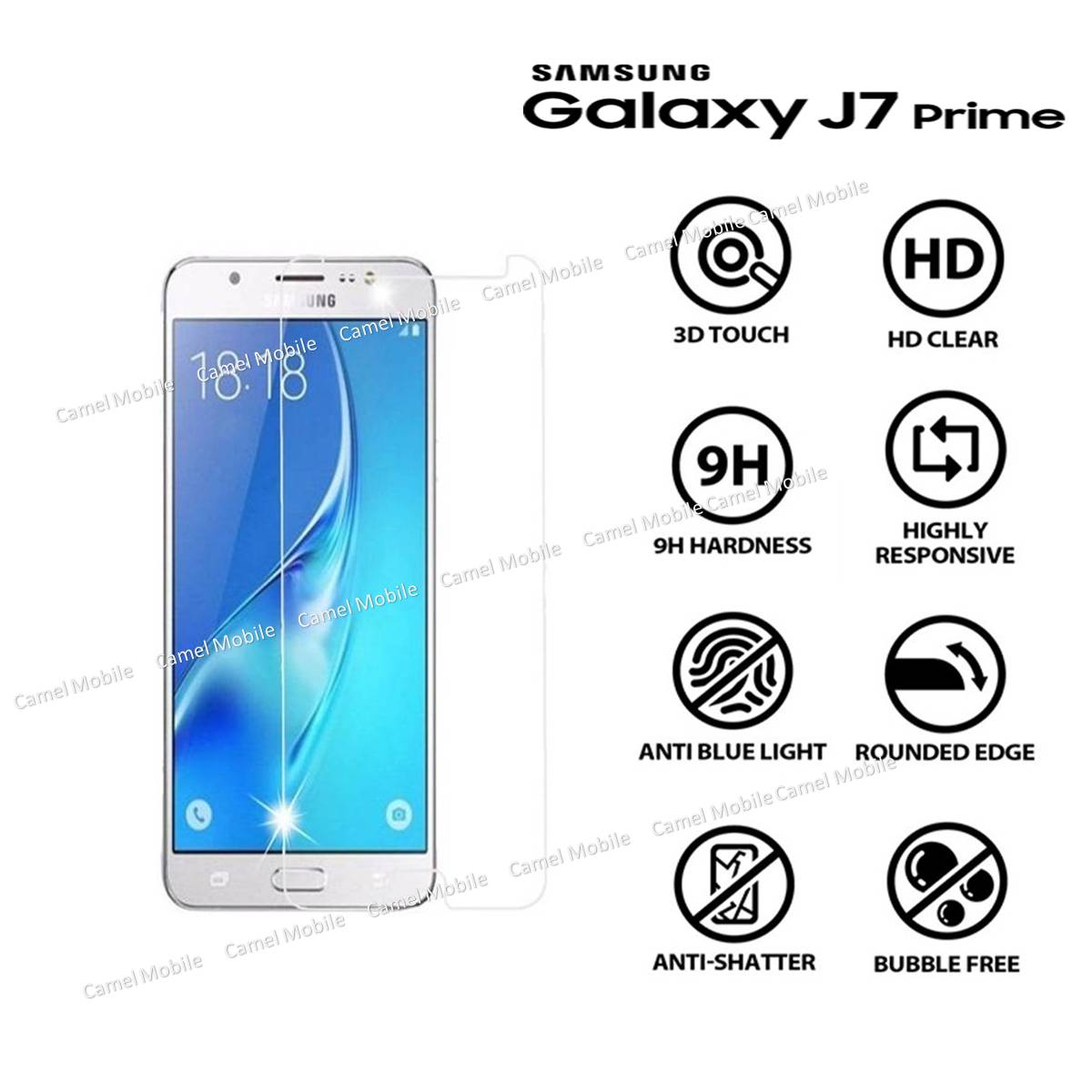 100/% Genuine Tempered Glass Screen Guard Protector For Samsung Galaxy J7 Prime