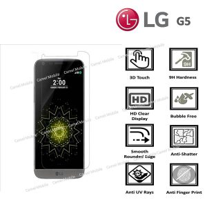 LG G5 100% Genuine Premium Tempered Glass Screen Protector – Clear