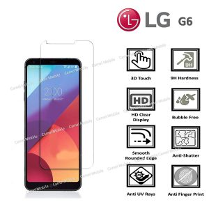 LG G6 100% Genuine Premium Tempered Glass Screen Protector – Clear