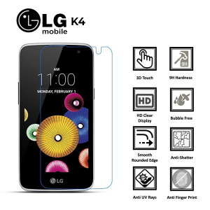 LG K4 100% Genuine Premium Tempered Glass Screen Protector – Clear