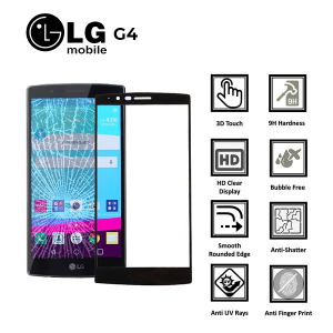 LG G4 100% Genuine Premium Tempered Glass Screen Protector – Clear