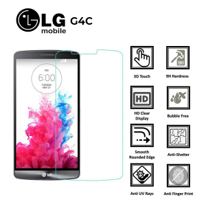 LG G4 C 100% Genuine Premium Tempered Glass Screen Protector – Clear
