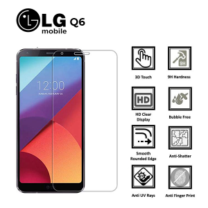 LG Q6 100% Genuine Tempered Glass Screen Protector-Clear