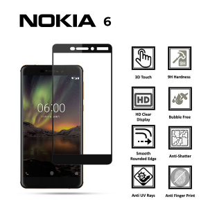 NOKIA 6(NEW) 100% Genuine Tempered Glass Screen Protector-Clear