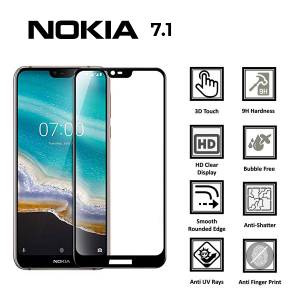 Nokia 7.1 100% Genuine Tempered Glass Screen Protector-Clear
