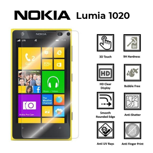 Nokia Lumia 1020 100% Genuine Tempered Glass Screen Protector – Clear