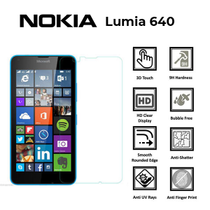 Microsoft Lumia 640 100% Genuine Tempered Glass Screen Protector – Clear