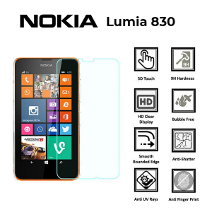 Nokia Lumia 830 100% Genuine Tempered Glass Screen Protector – Clear
