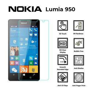 Microsoft Lumia 950 100% Genuine Tempered Glass Screen Protector – Clear