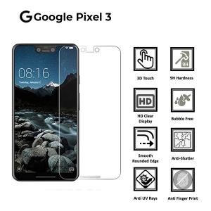 Google Pixel 3 100% Genuine Tempered Glass Screen Protector-Clear