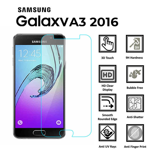 Samsung Galaxy A3 2016-Screen-Protector-Tempered-Glass