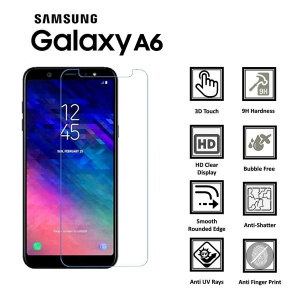 Samsung Galaxy A6 100% Genuine Tempered Glass Screen Protector-clear