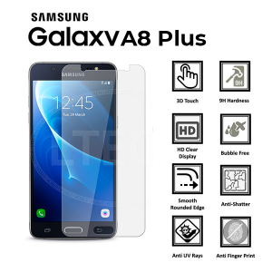 Samsung Galaxy A8 Plus (2018) 100% Genuine Tempered Glass Screen Protector-clear