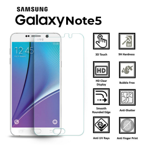 Samsung Galaxy Note 5 100% Genuine Tempered Glass Screen Protector-Clear