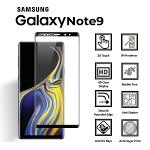 Samsung Galaxy Note 9 100% Genuine 3D Tempered Glass Screen Protector-Clear