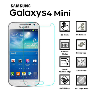 Samsung Galaxy S4 Mini 100% Tempered Glass Screen Protector-clear