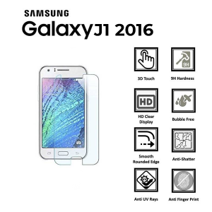 Samsung Galaxy J1 2016 100% Tempered Glass Screen Protector-Clear