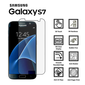 Samsung Galaxy S7 Full 3D 100% Tempered Glass Screen Protector-Gold