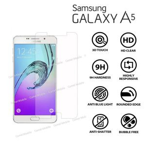 Samsung Galaxy A5 100% Genuine Tempered Glass Screen Protector- clear