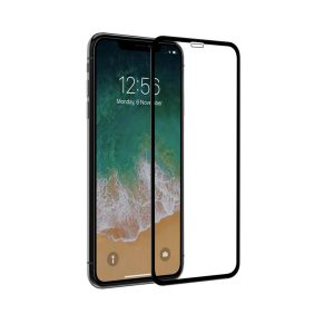 Apple iphone XR Full covered & Glued 100% Genuine 3D Tempered Glass Screen Protector- Black