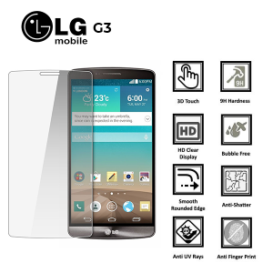LG G3 100% Genuine Premium Tempered Glass Screen Protector – Clear