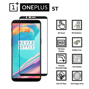 One Plus 5T 100% Tempered Glass Screen Protector-Clear