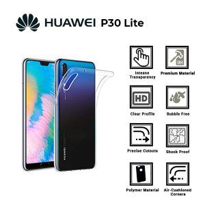 A BETTER MINIMALIST CASE for Huawei P30 Lite Ultra Thin [1.5mm] Slim Fit Flexible Soft TPU Case for Huawei P30 Lite