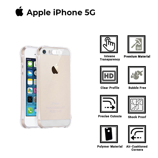 A BETTER MINIMALIST CASE for iPhone 5G, Ultra Thin [1.5mm] Slim Fit Flexible Soft TPU Case for iPhone 5G